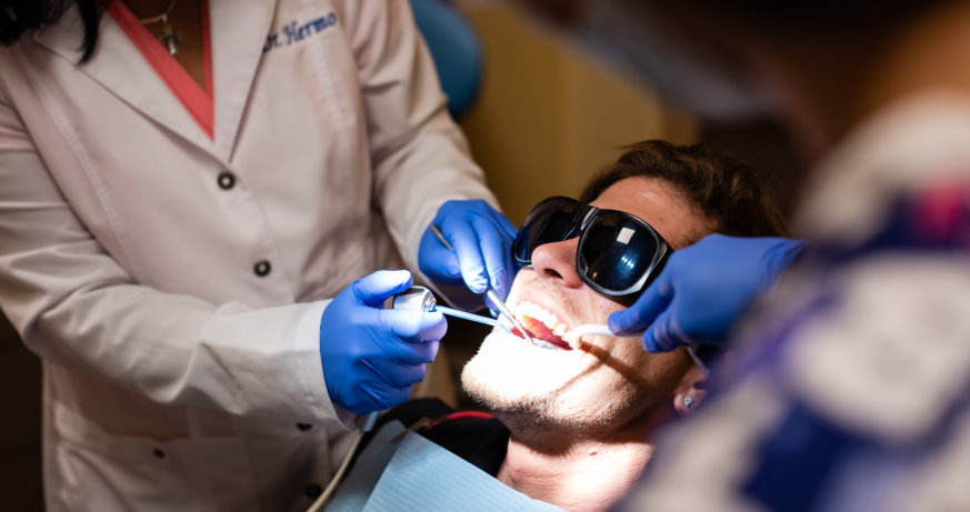 dentist and patient at Tooth Spa Dentistry